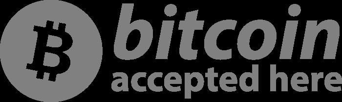 Bitcoin Accepted Here BTC Logo