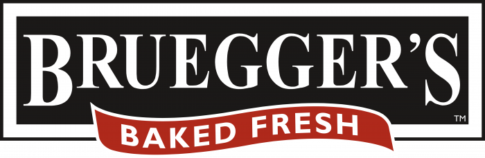 Bruegger's Enterprises Logo black background