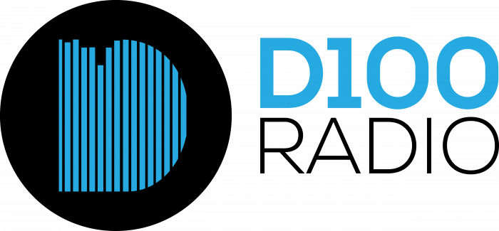 D100 Radio Logo blue