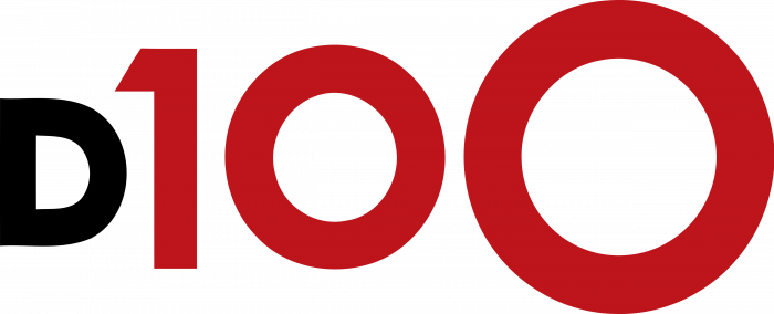 D100 Radio Logo red