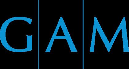 Global Asset Management Logo blue text