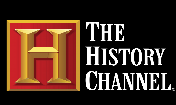 History Channel Logo black background