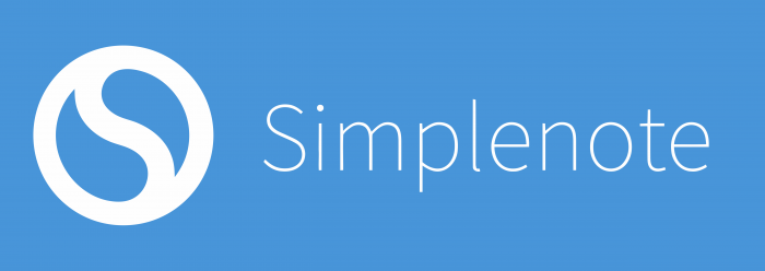 Simplenote Logo blue background