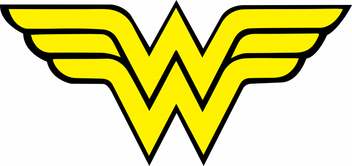Wonder Woman Logo yellow