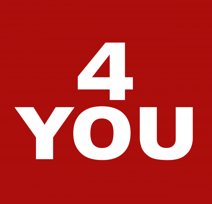 4 You Clothing Company Logo red