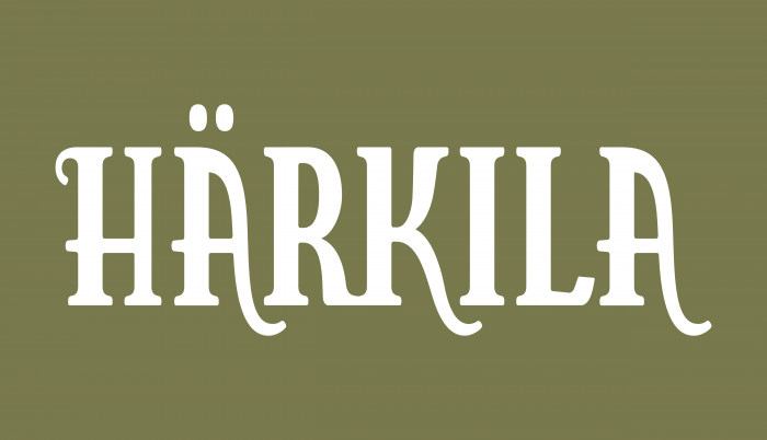 Härkila Logo white text