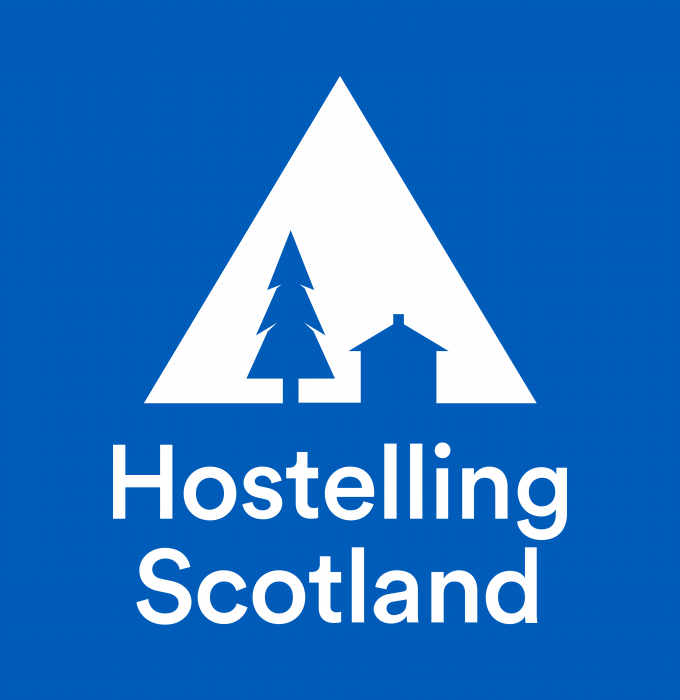 Hostelling Scotland Logo background