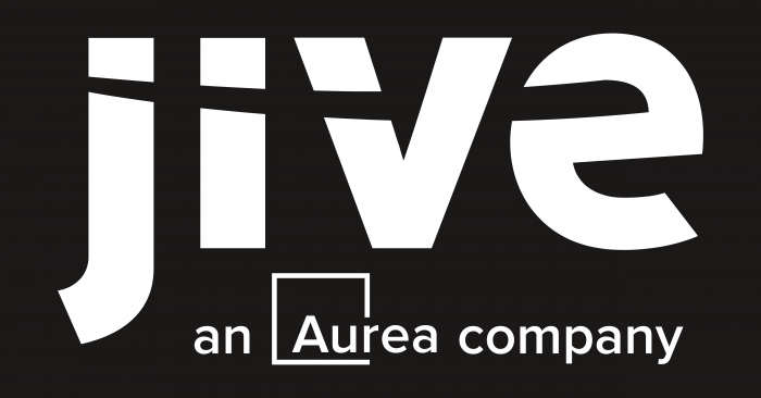 Jive Software Logo black background