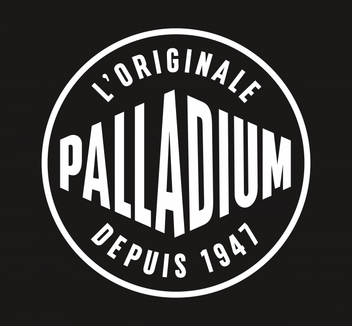 Palladium Boots Logo black background