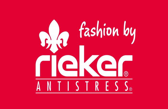 Rieker Shoes Logo white text