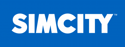 Simcity Logo blue background