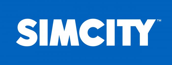 Simcity Logo blue background