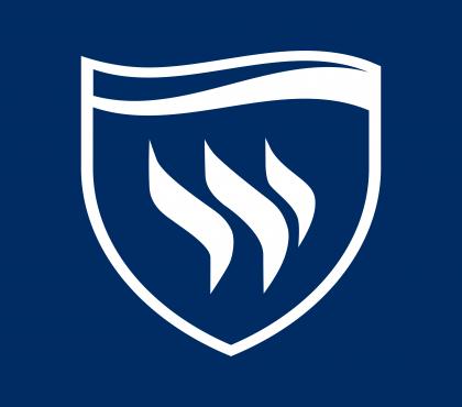 Texas Wesleyan University Logo blue background