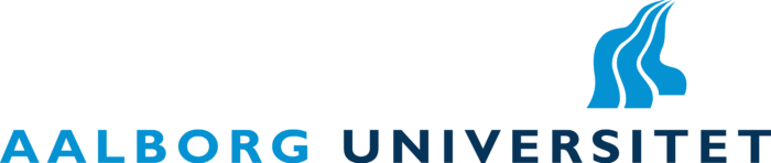 Aalborg Universitet Logo old blue text