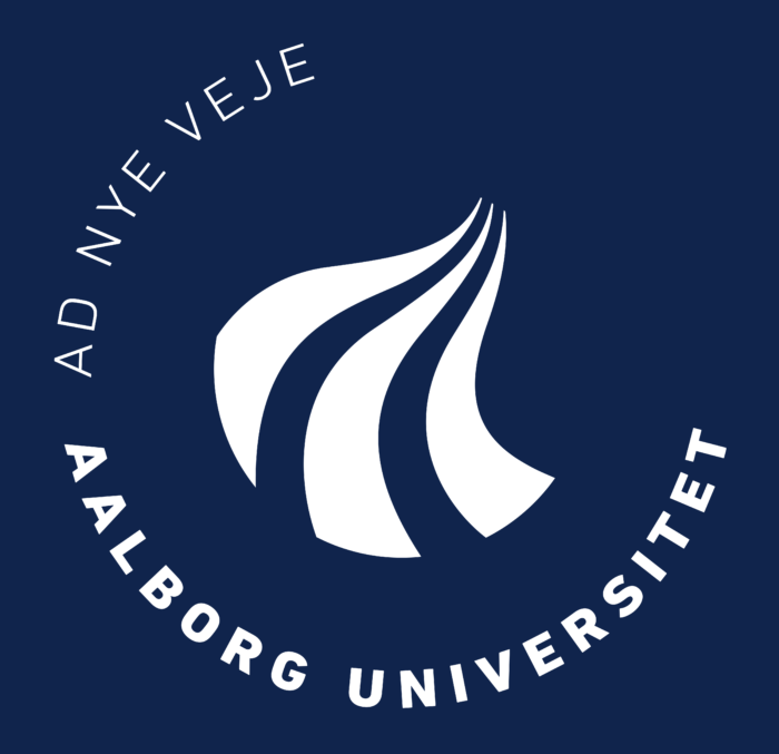 Aalborg Universitet Logo white text