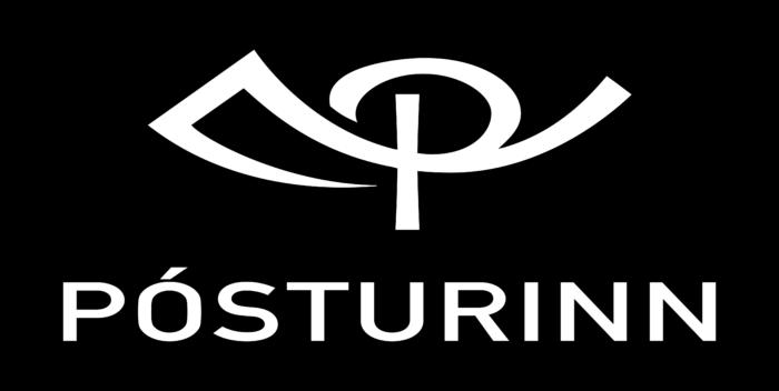 Islandspostur Logo black