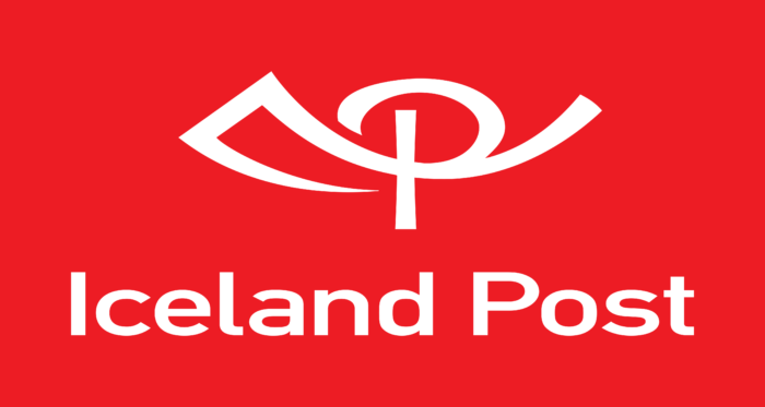 Islandspostur Logo red
