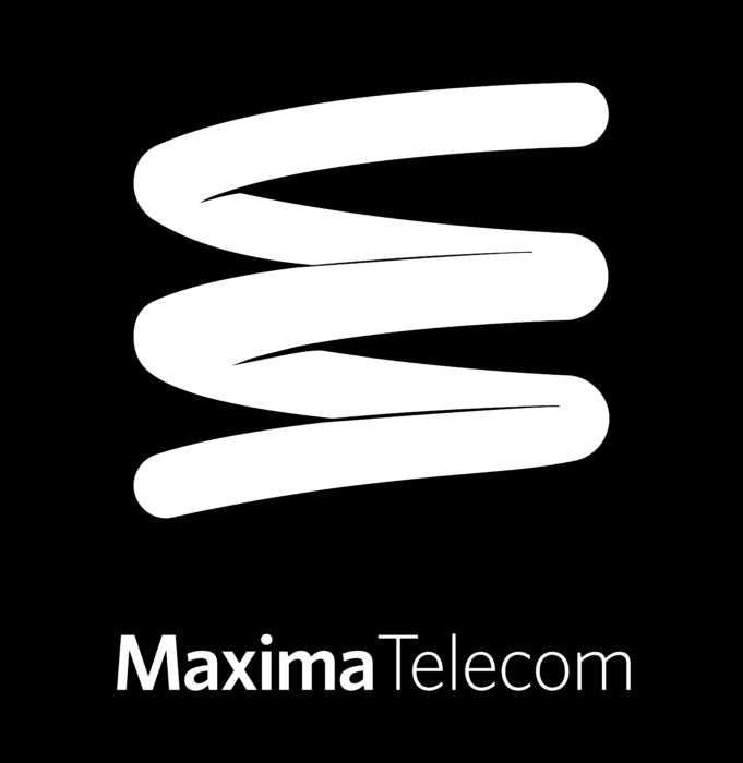 MaximaTelecom Logo white text