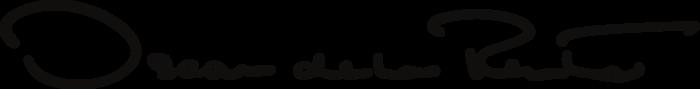 Oscar De La Renta Logo black