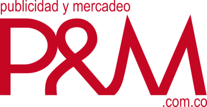 Publicidad y Mercadeo Logo red text