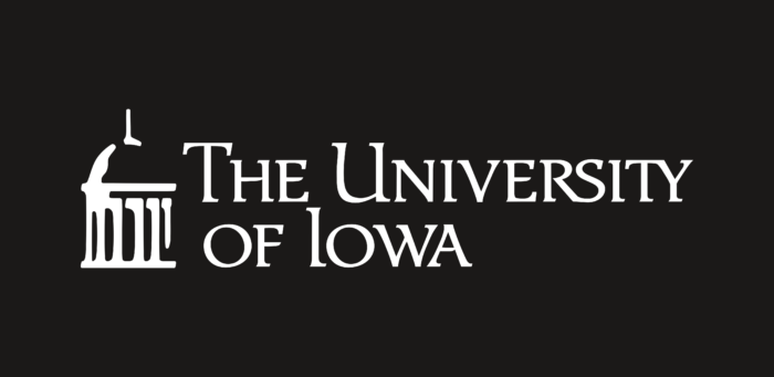 University of Iowa Logo black background
