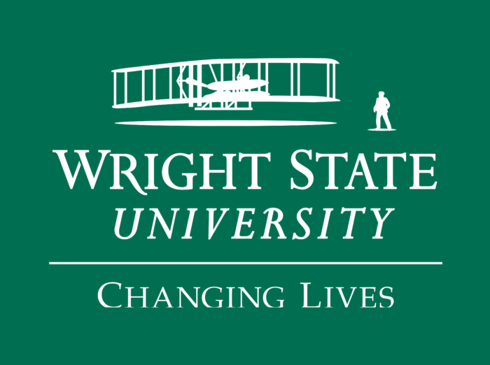 Wright State University Logo green background