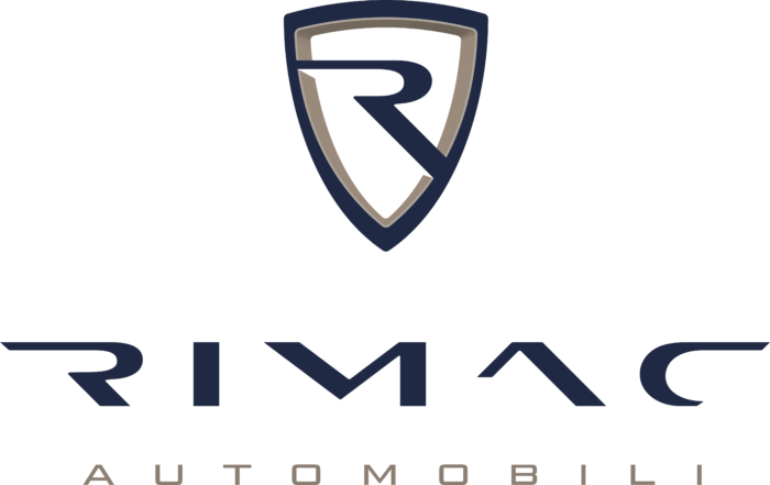 Rimac Automobili Logo vertically color light