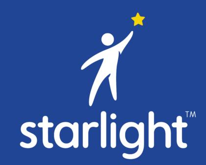 Starlight Childrens Foundation Logo white text