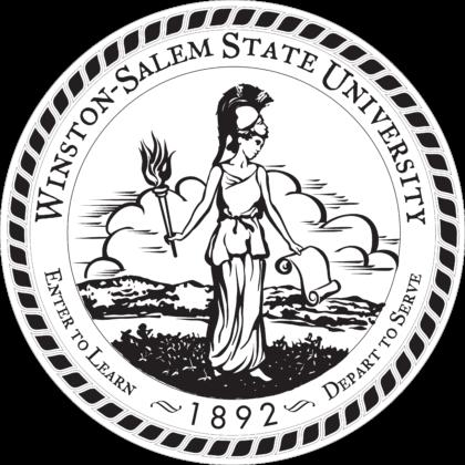 Winston Salem State University Logo black