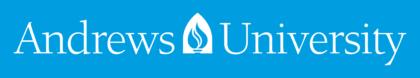 Andrews University Logo blue