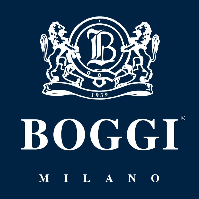 Boggi Milano Logo white text