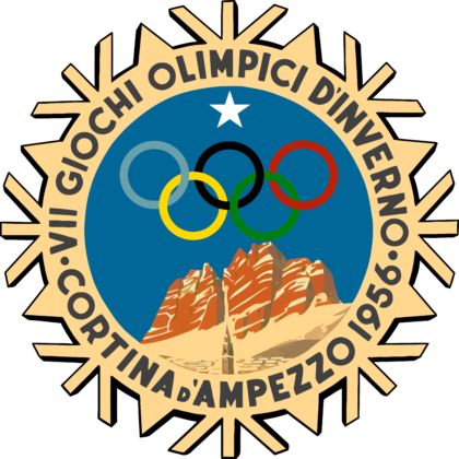 Cortina d'Ampezzo 1956, VII Winter Olympic Games Logo
