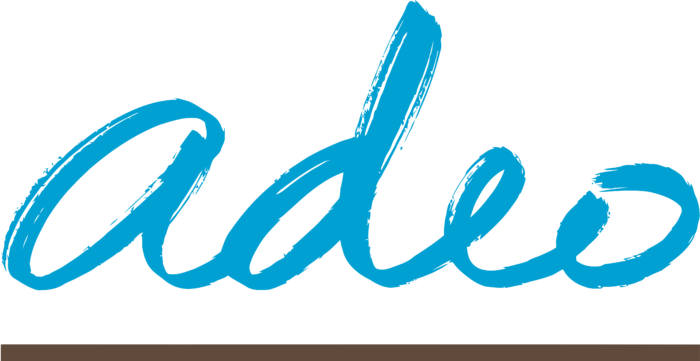 Groupe ADEO Logo blue text