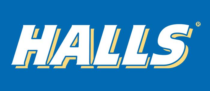 Halls Cough Drops Logo old
