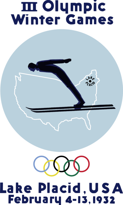 Lake Placid 1932, III Winter Olympic Games Logo