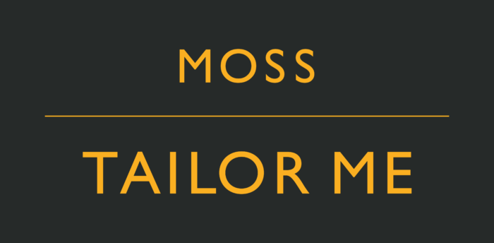 Moss Bros Logo orange text