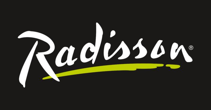 Radisson Hotel Logo black background