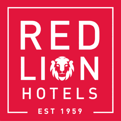 Red Lion Hotels Logo red