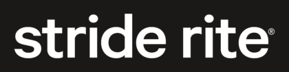 Stride Rite Logo white text
