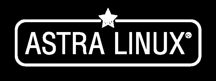 Astra Linux Logo white