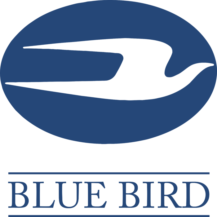 Blue Bird Corporation Logo blue