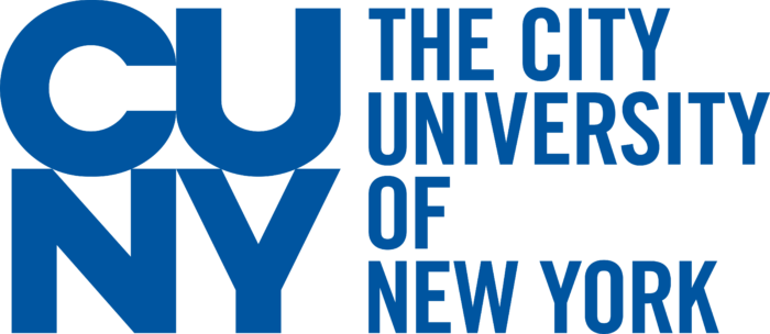 City University of New York Logo blue text