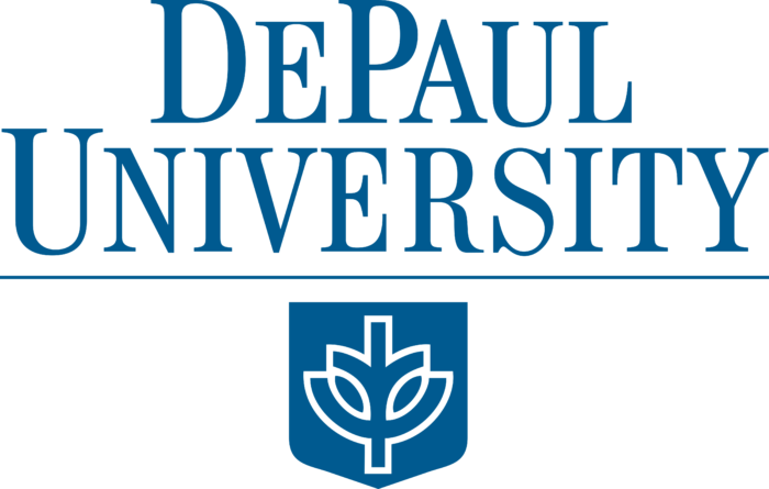 De Paul University Logo blue