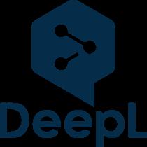 DeepL Logo blue text