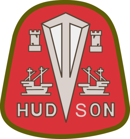 Hudson Motor Car Company Logo red