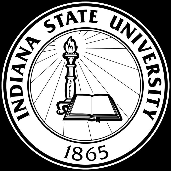 Indiana State University Logo black