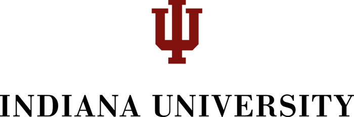 Indiana University Bloomington Logo black text