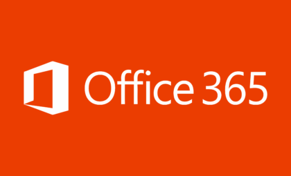 Microsoft Office 365 Logo white text