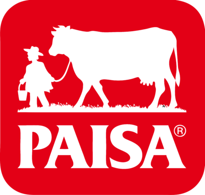 Paisa Logo red background