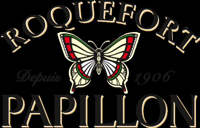 Papillon Roquefort Logo black text